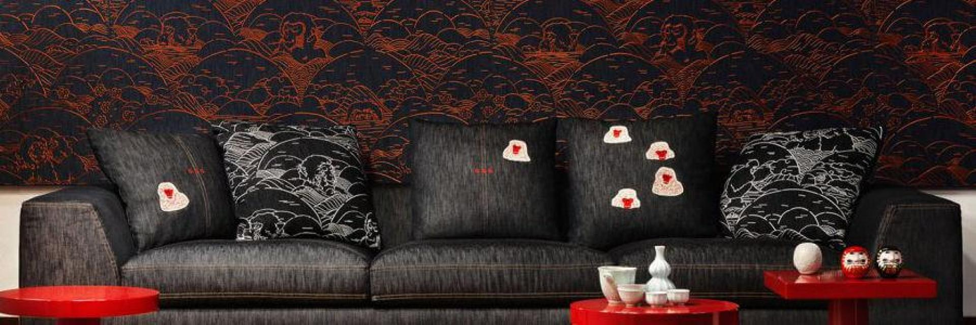 Moooi's Tokyo Blue Wallcoverings Collection by Arte
