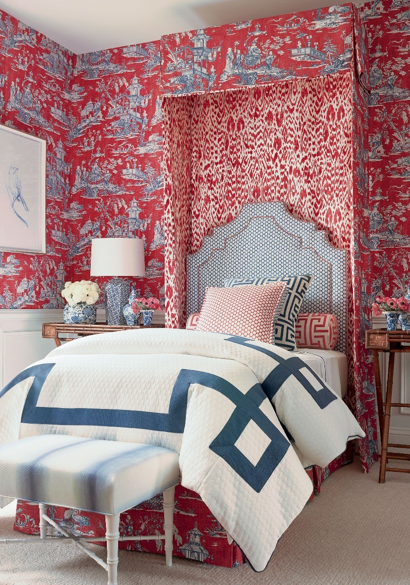 Dynasty Cheng Toile Wallpaper 02 Thibault