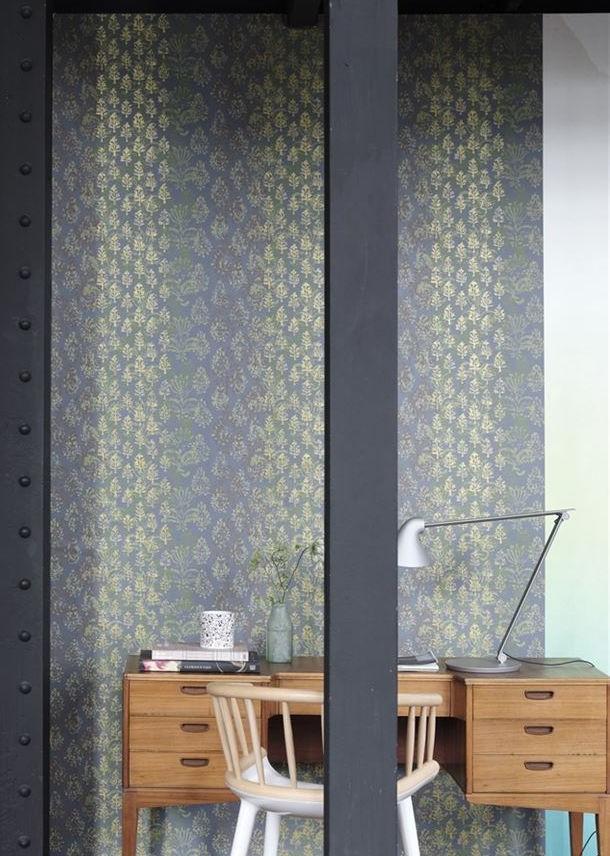 Kasavu Graphite Wallpaper Designers Guild