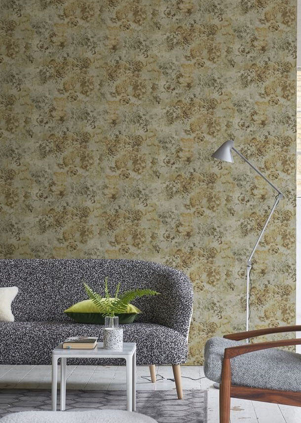 Tarbana Gold Wallpaper Designers Guild