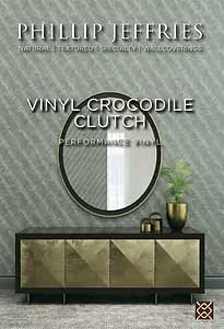 Vinyl Crocodile Clutch