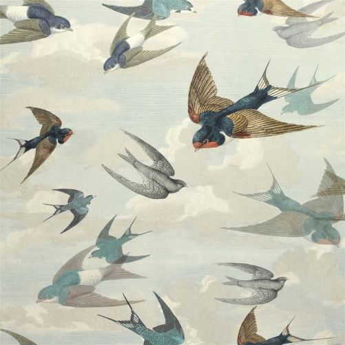 Chimney Swallows Sky Blue PJD6003-01