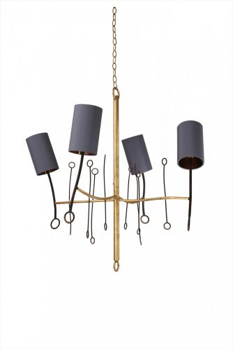 Extra Small Lollipop Chandelier MCL20XS Scratched Gold