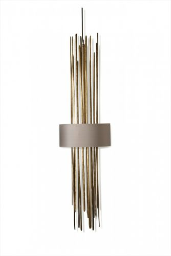 Flynn Caged Stairwell Lantern MCL16 Gold