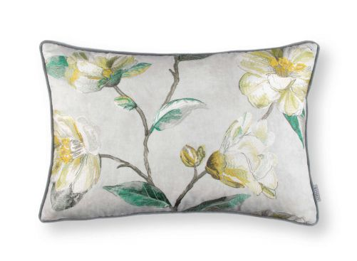 Japonica Embroidery Cushion Cypress RC701-02