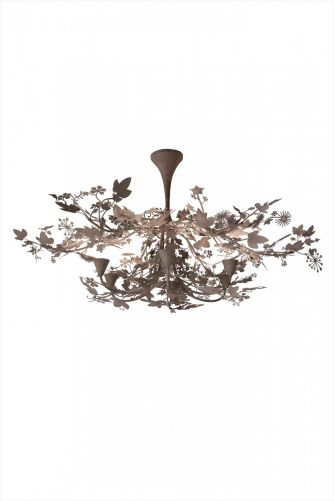 Large Ivy Shadow Chandelier MCL37L Forest White
