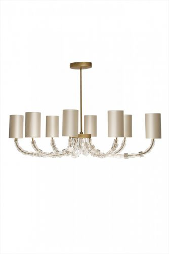 Oval Lartigue Chandelier MCL11 French Brass